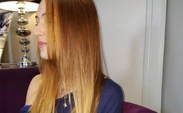 Lissage effectué par les coiffeurs du salon Mya à Montrichard (41)